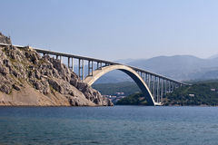 Krk bridge Royalty Free Stock Photography