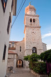 Krk Cathedral belfry view fron secondary passage - Croatia Royalty Free Stock Images