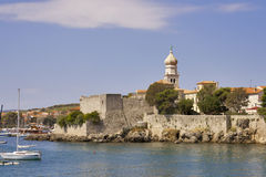 Krk city. Old town Krk, the historical seat of the Roman Catholic Diocese. Island Krk, Croatia Stock Photography