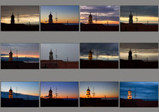 Krk (Croatia) sky patchwork Stock Photography