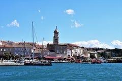 Krk-Krk,Croatia. Krk town on Krk island on the nord Adriatic sea,Croatia royalty free stock photography