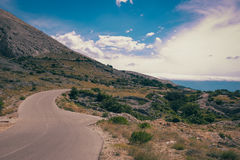 Krk-Insel Kroatien Adria Stockbild