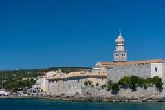 Krk miasteczko Croatia Obrazy Royalty Free