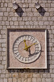 Krk old clock , Croatia Royalty Free Stock Photos