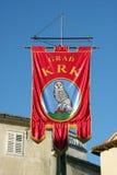 krk s флага города Стоковое Изображение RF