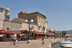 Krk seafront, Croatia Stock Images