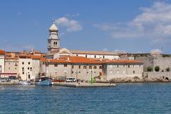 Krk seafront, Croatia stock photo