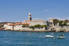 Krk seafront, Croatia Stock Photography
