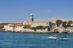 Krk seafront, Croatia Stock Photography