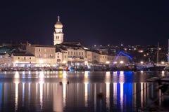 Krk stadö av Krk Kroatien Arkivbilder