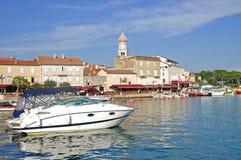 Krk Stadt, Krk Insel, Kroatien Stockbilder