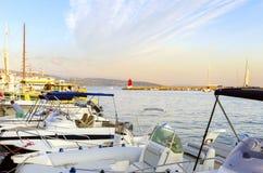 Krk-Stadthafen, Kroatien lizenzfreies stockbild
