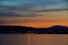 Krk sunset Stock Images