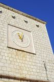 Krk Town Hall clock, Croatia Stock Photography