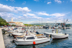 Harbor in Krk Town, Island Krk in Croatia. Royalty Free Stock Image