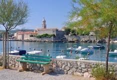 Krk town,krk island,croatia Royalty Free Stock Image