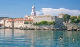 Krk Town,Krk Island,Croatia Stock Photo