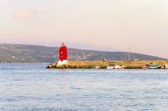 Krk town lighthouse, Croatia Stock Photos