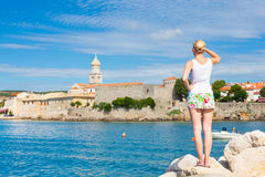 Krk town, Mediterranean, Croatia, Europe Stock Photo