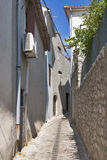 Krk town narrow street Royalty Free Stock Photography
