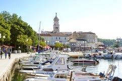 Krk town port, Croatia Stock Photos