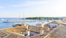 Krk town port, Croatia Royalty Free Stock Photos