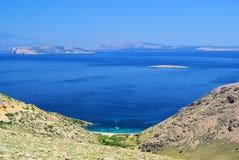 Krk und Inseln vom Sand Lizenzfreie Stockbilder
