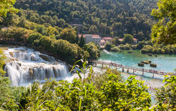 Krka国家公园在克罗地亚 库存图片