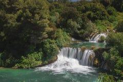 Krka国家公园瀑布  库存图片