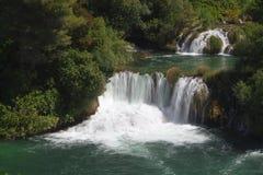 Krka国家公园瀑布  免版税库存照片