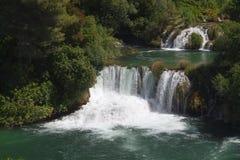 Krka国家公园瀑布  免版税库存图片
