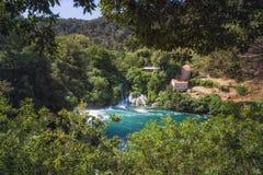 Krka国家公园,达尔马提亚,克罗地亚 免版税库存图片