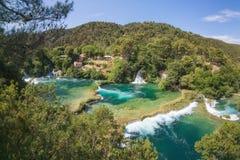 Krka国家公园,达尔马提亚,克罗地亚 库存图片