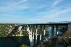 Krka桥梁 免版税图库摄影