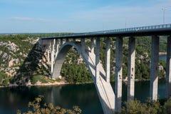 Krka桥梁 免版税库存照片