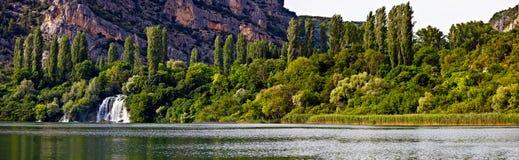 krka河瀑布 库存图片