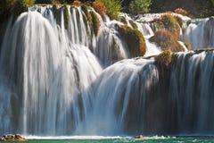 Krka瀑布国家公园,克罗地亚 免版税库存图片