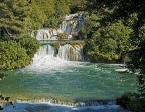 Krka瀑布,克罗地亚Krka国家公园 免版税库存照片