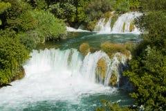 Krka瀑布,克罗地亚Krka国家公园 免版税库存图片
