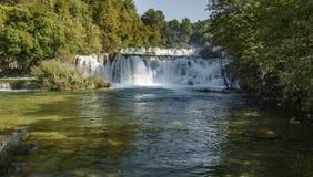 Krka瀑布 库存图片