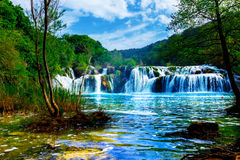 Krka的瀑布 免版税库存照片