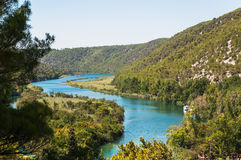 Krka flod, Kroatien Royaltyfri Bild