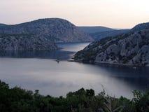 Krka Fluss Stockfoto