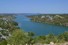 Krka-Fluss Lizenzfreies Stockfoto