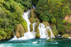 Krka forest waterfall Royalty Free Stock Photo