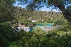 Krka Nationaal Park, Dalmatië, Kroatië Royalty-vrije Stock Foto