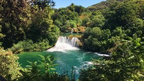 Krka Nationaal Park Kroatië stock video