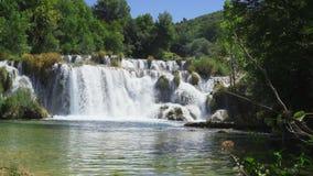 Krka Nationaal Park Kroatië stock footage