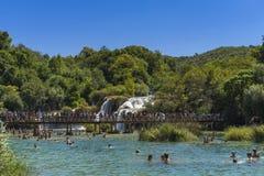 Krka Nationaal Park, Kroatië, 14 Augustus 2017 Stock Foto