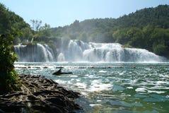 Krka National park, Croatia. Waterfalls of Krka National park, Croatia Stock Photo